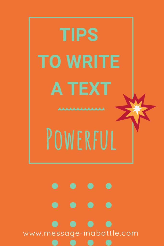 tips write text