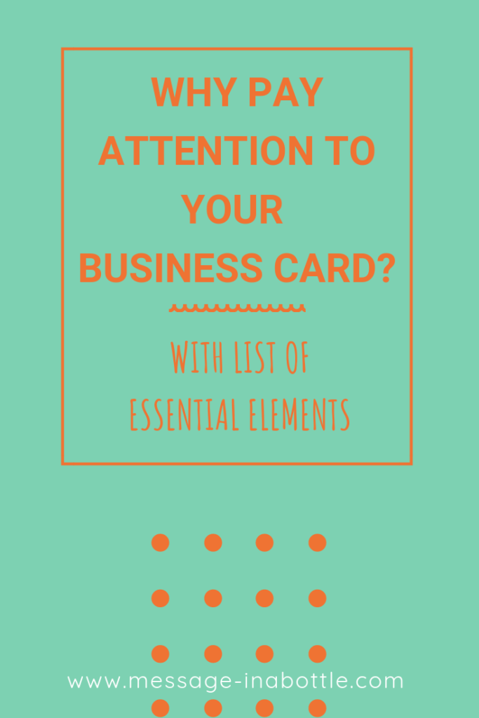 why pay attention to business card