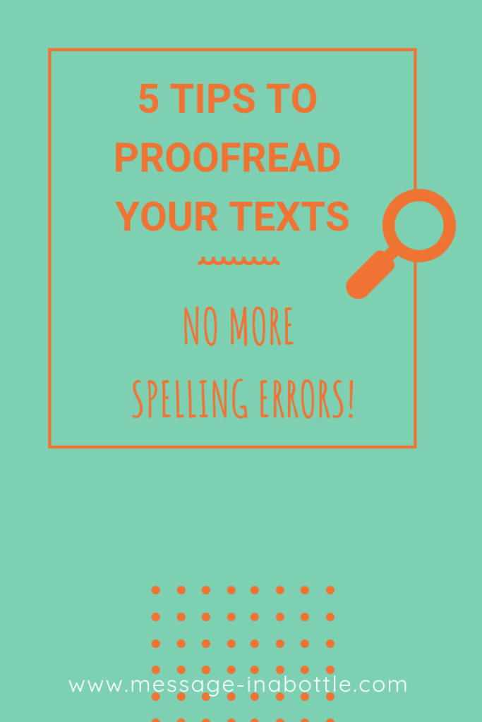 tips proofread texts