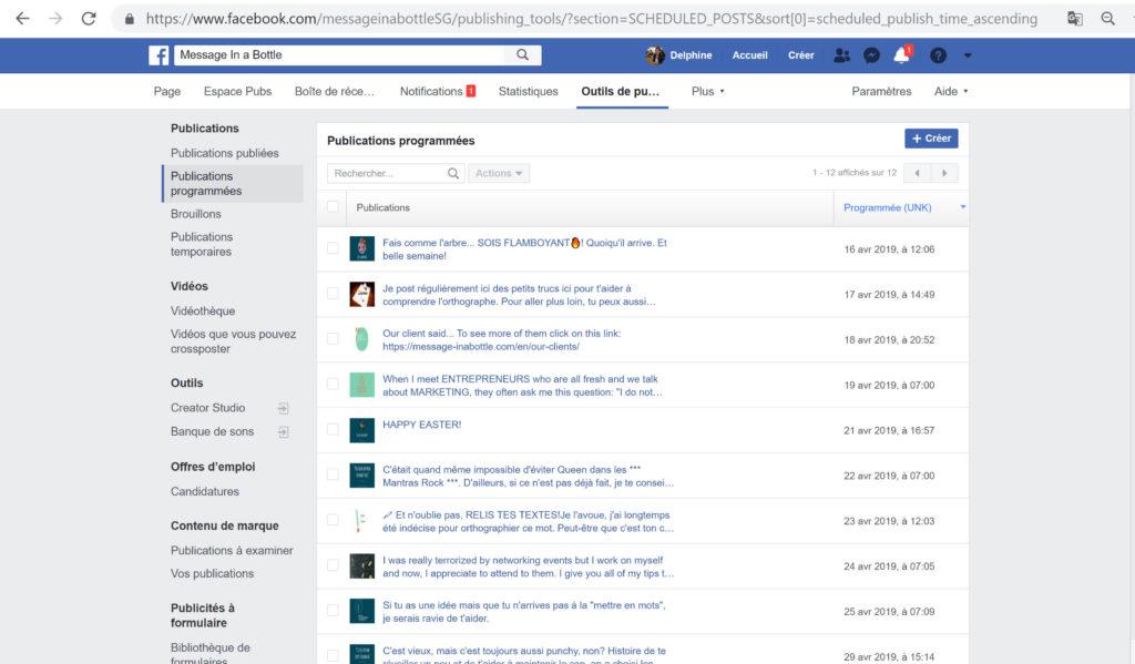 outils gestion réseaux sociaux facebook